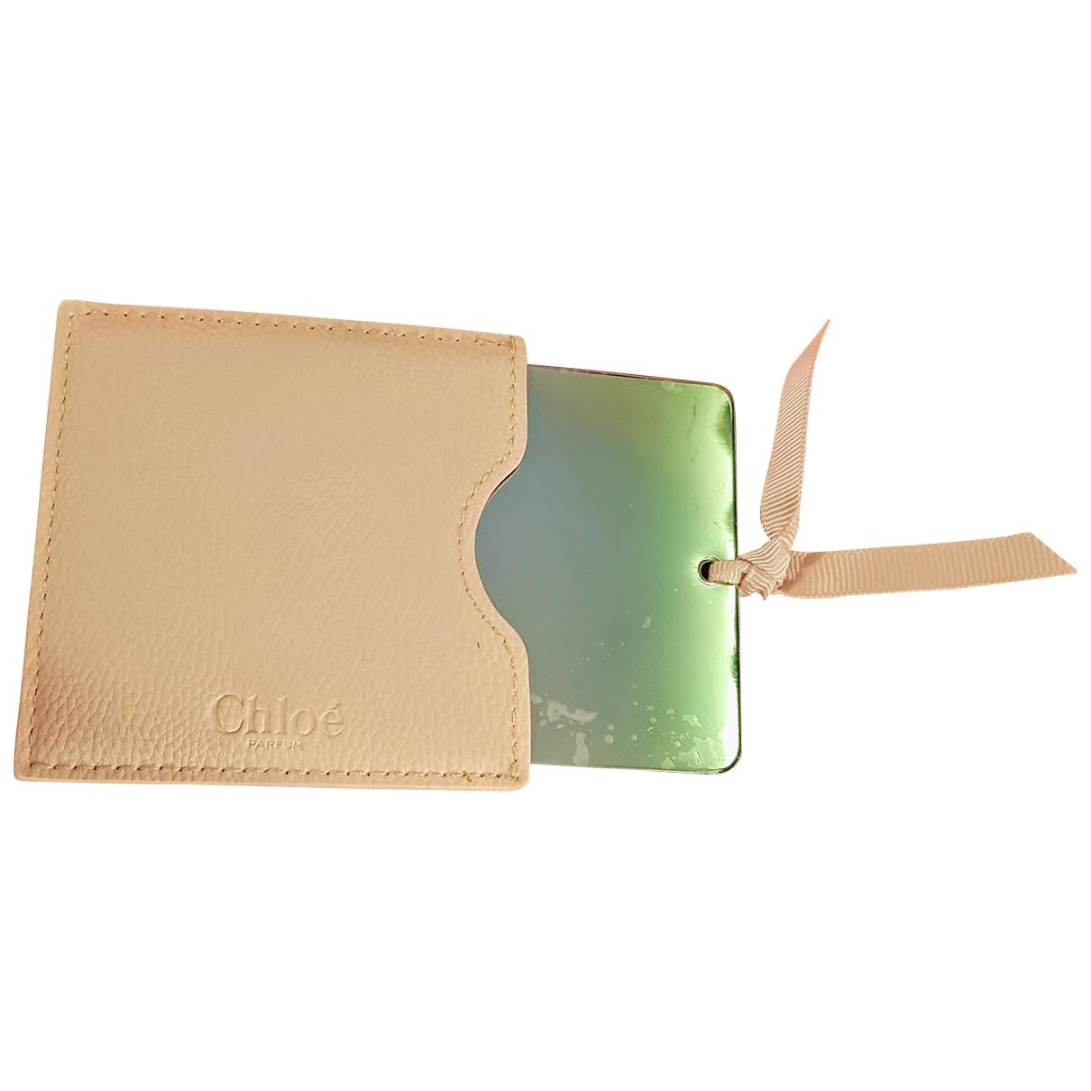 Chloe \N Accessoires und Dekoration in  Beige Leder