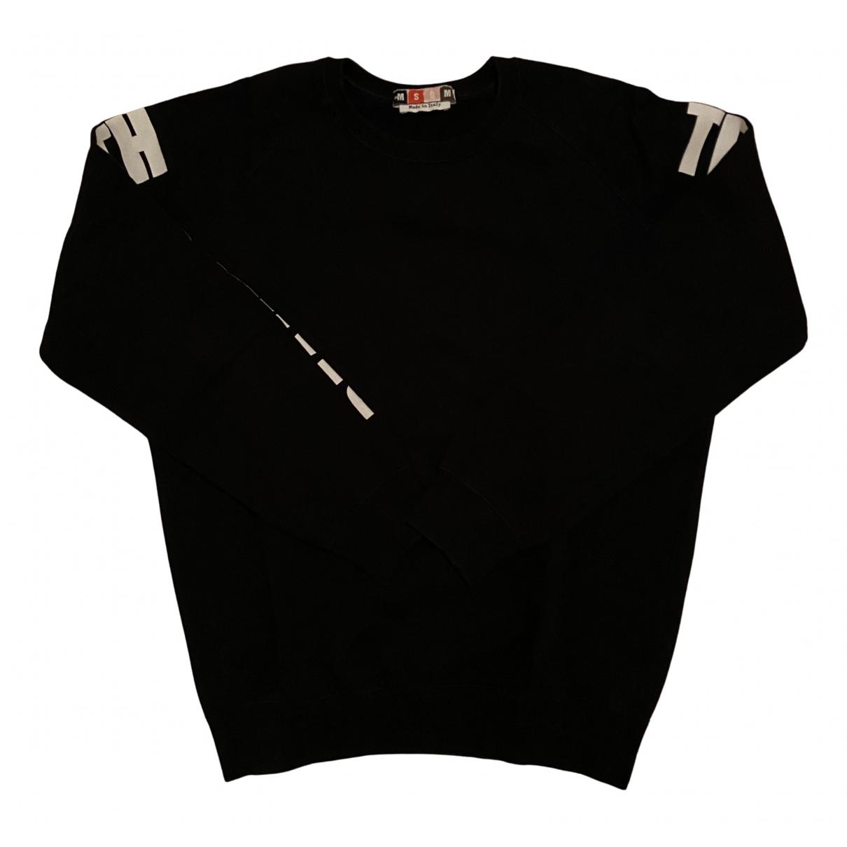 Msgm \N Pullover in  Schwarz Baumwolle