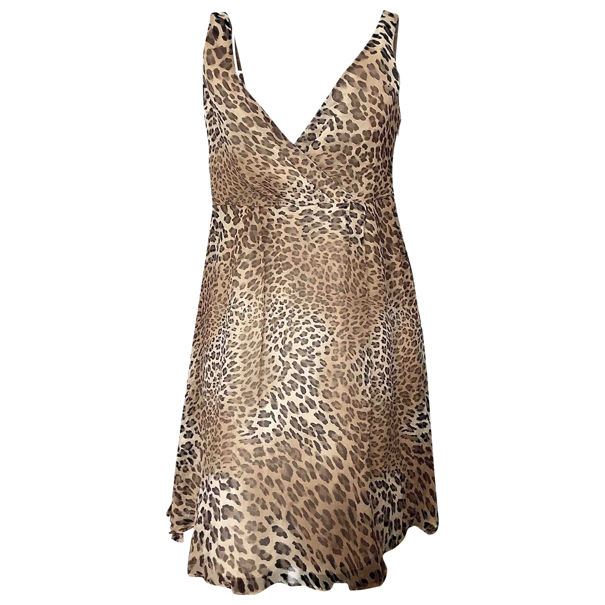 Massimo Dutti - Robe   pour femme en soie - marron