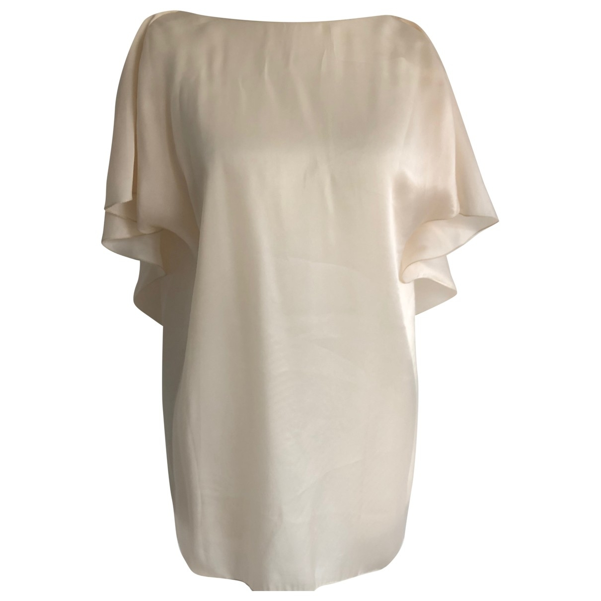 Lanvin - Top   pour femme en soie - beige