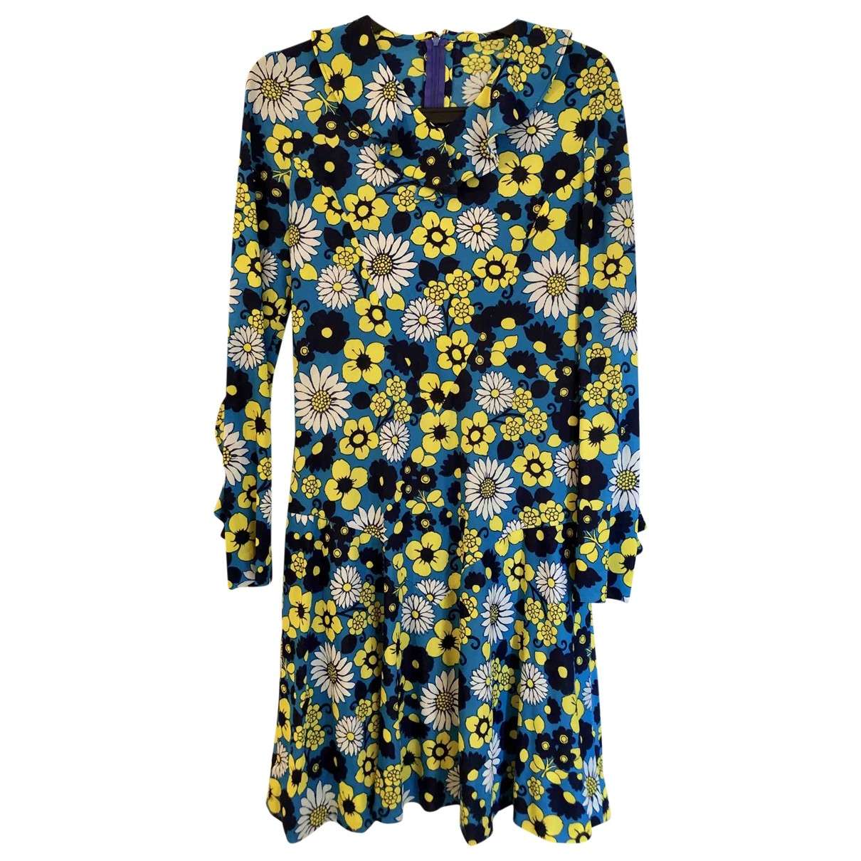 Non Signé / Unsigned Hippie Chic Blue dress for Women 36 FR