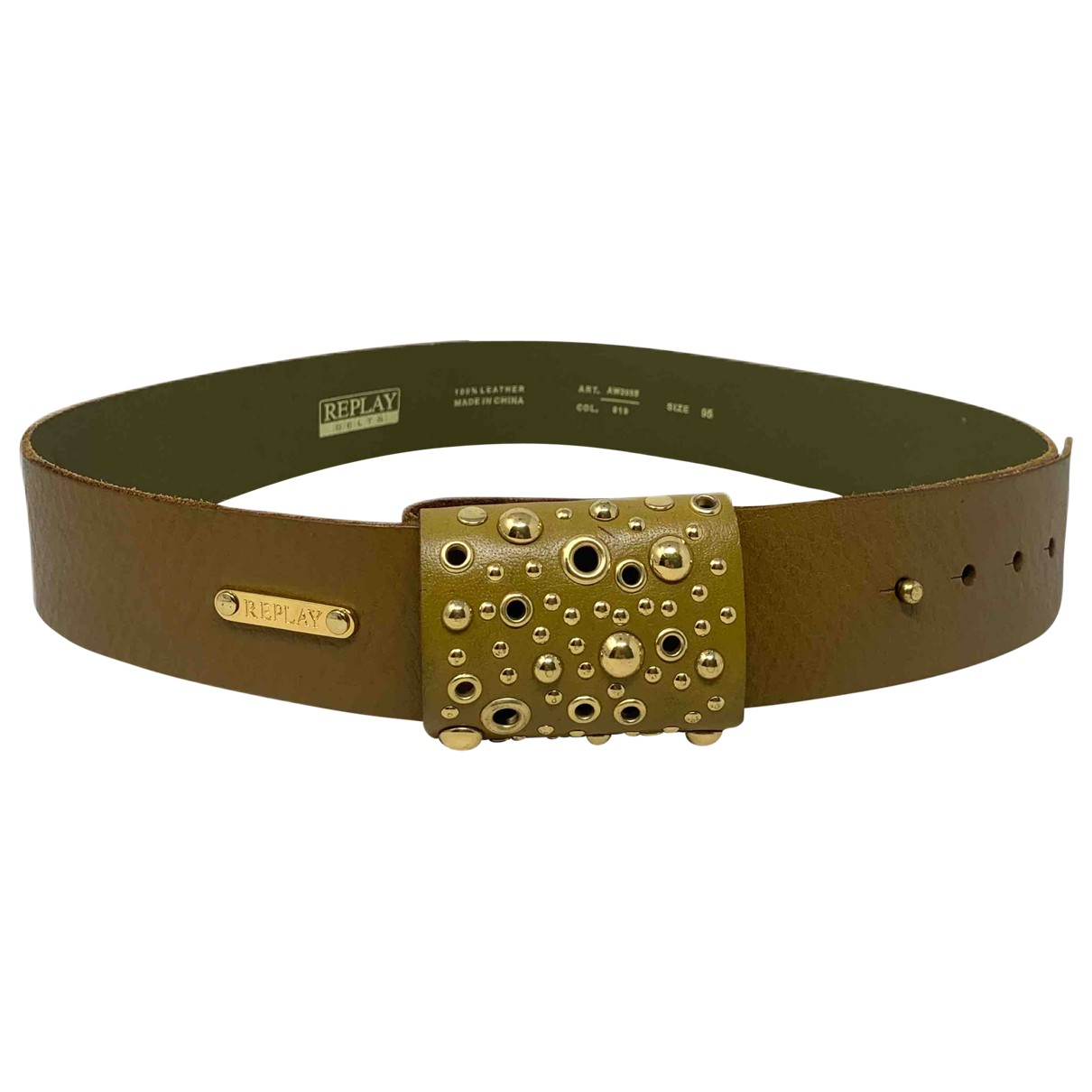 Replay \N Leather belt for Women 95 cm