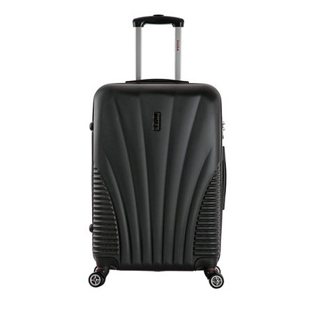InUSA Chicago Lightweight Hardside 25 Inch Spinner Luggage, One Size , Black