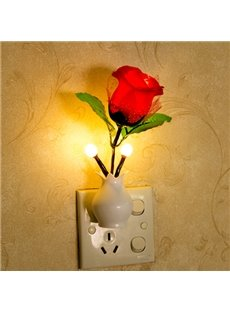 Romantic Color-Changing Rose Light-Operated LED Nightlight