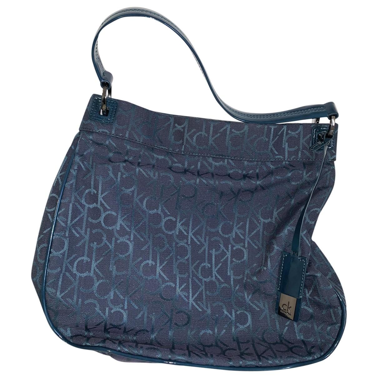 Calvin Klein \N Handtasche in  Blau Synthetik