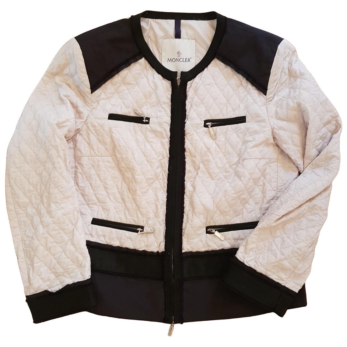 Moncler \N Ecru Leather jacket for Women 2 0-5