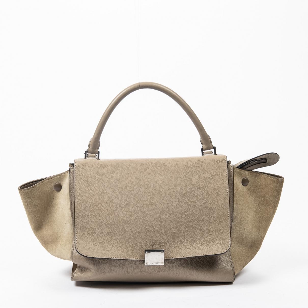 Celine Trapeze Handtasche in  Braun Leder