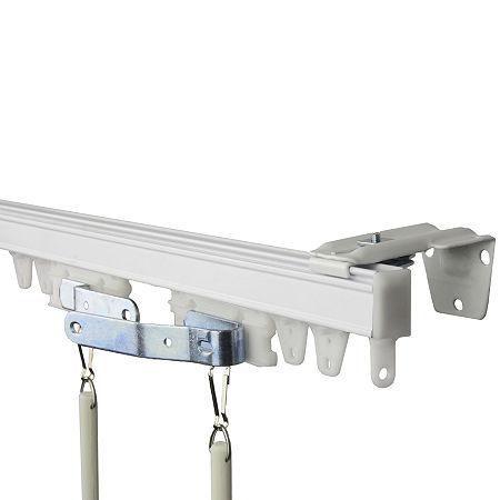 Rod Desyne Heavy-Duty Wall/Ceiling Track Kit, One Size , White