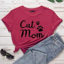 T-Shirt Klaue und Buchstaben Grafik
