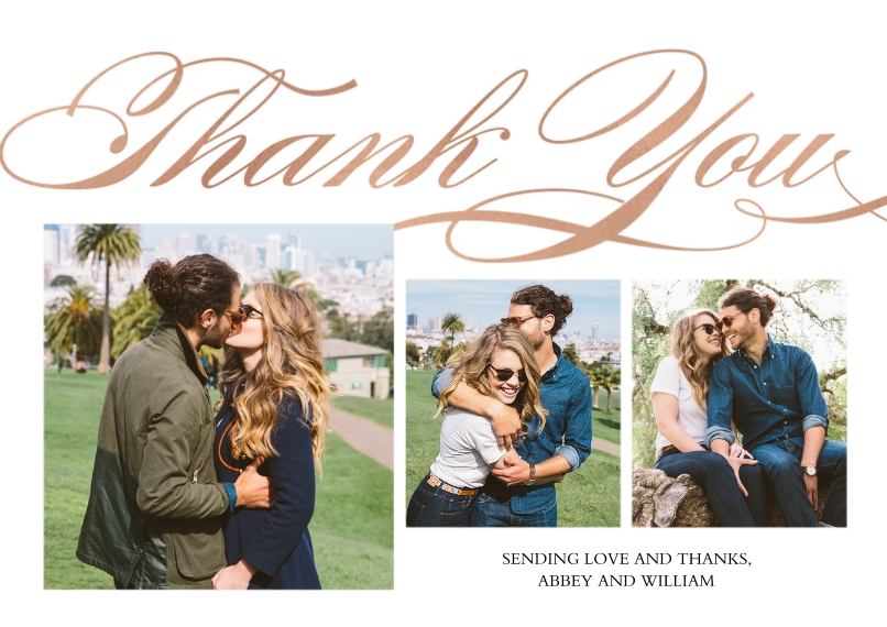 Thank You Cards 5x7 Cards, Premium Cardstock 120lb with Rounded Corners, Card & Stationery -Thank You Swirling by Tumbalina