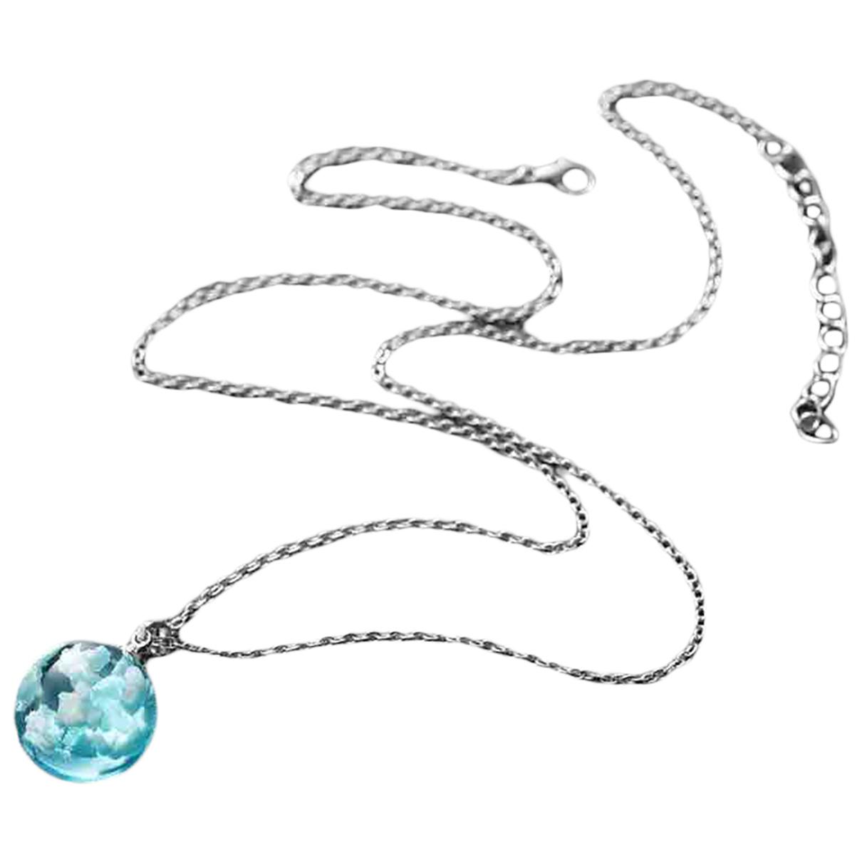 N.d.c. Made By Hand \N Kette in  Blau Metall