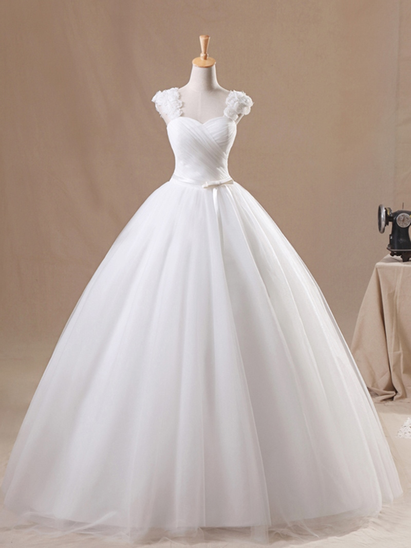 Ericdress Flowers Straps Ball Gown Wedding Dress