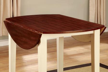 Dover II Collection CM3326WC-RT 42 Round Table with Transitional Style  Cherry Finished Table Top and Drop Leaf Table Top in Vintage