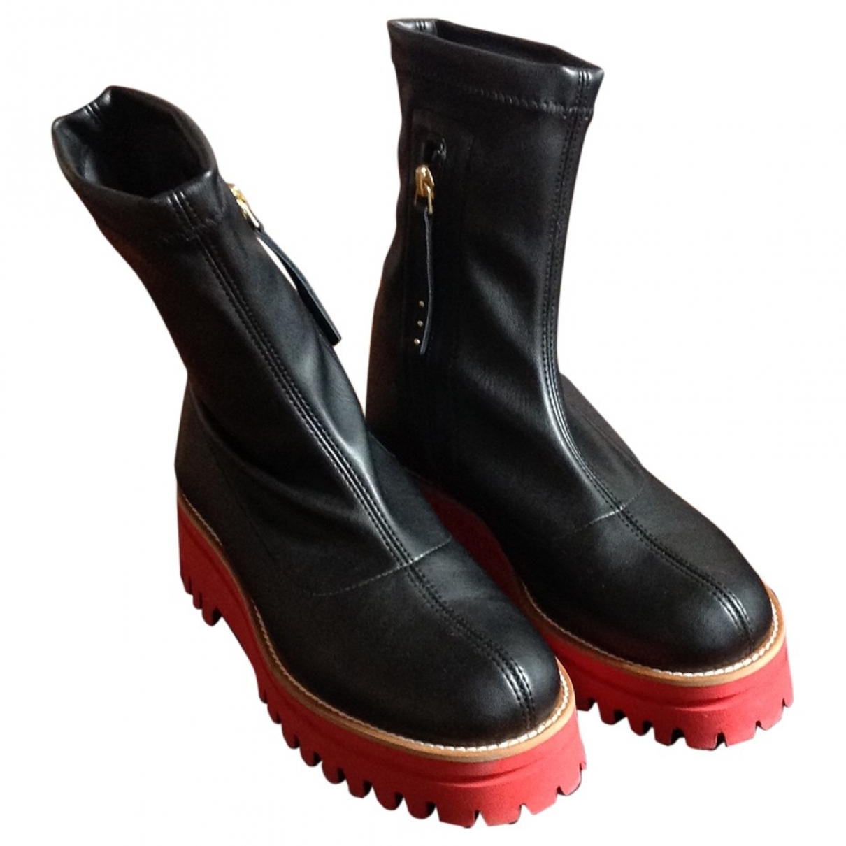 Paloma Barcelo \N Black Rubber Ankle boots for Women 37 EU