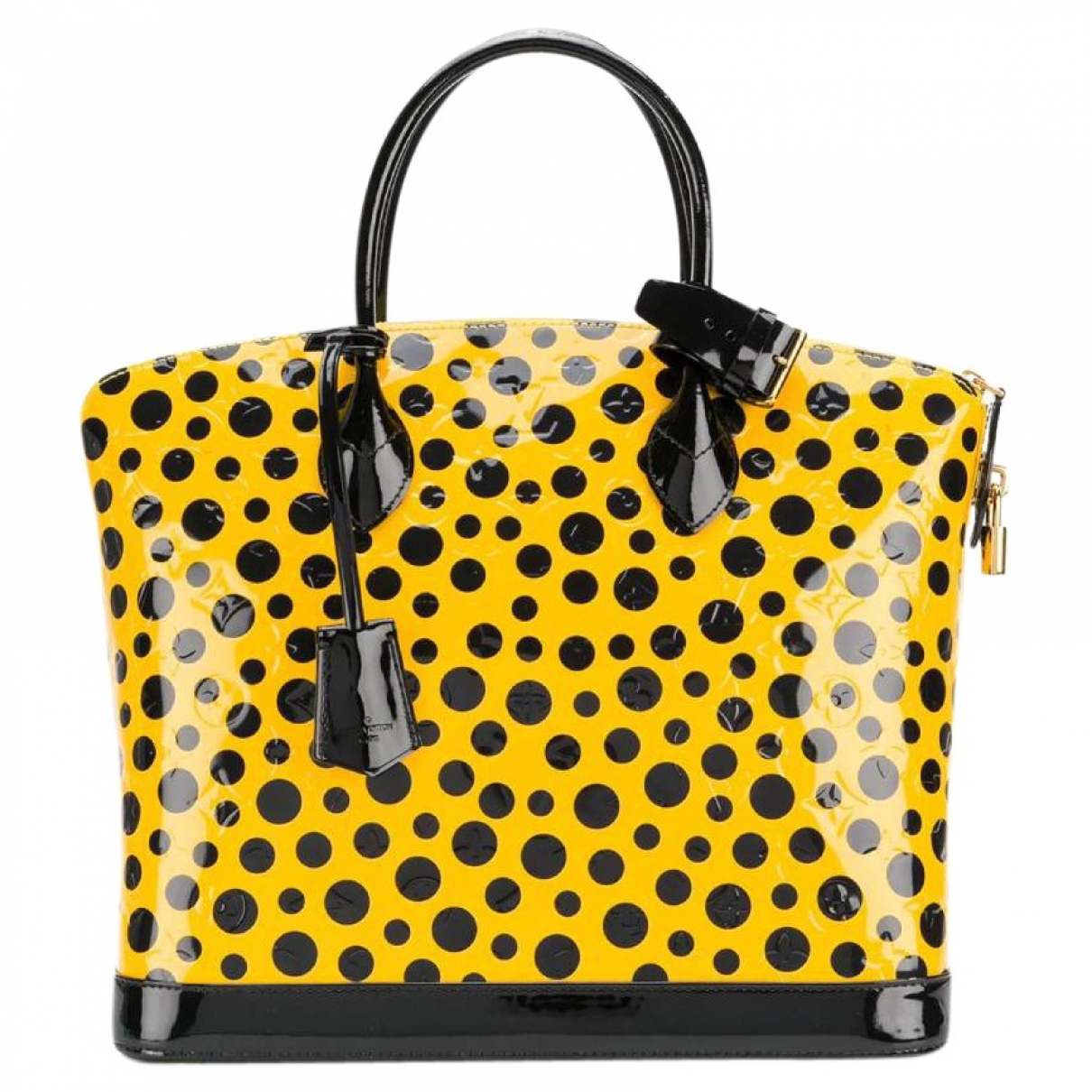 Louis Vuitton Lockit Vertical Yellow Patent leather handbag for Women \N