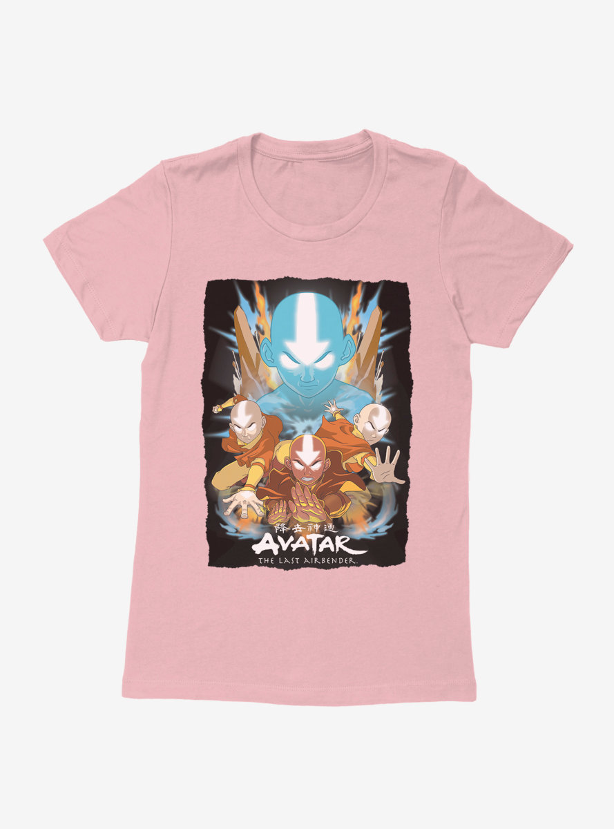 Avatar: The Last Airbender Aang Master Of All Elements Womens T-Shirt