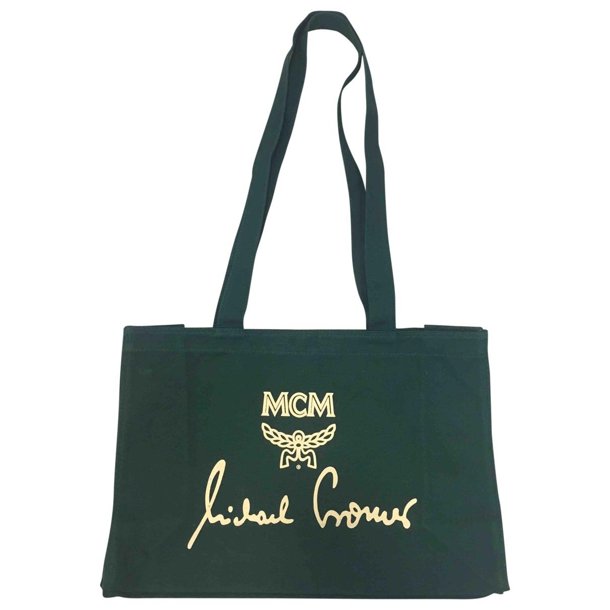 Mcm \N Green Cotton Travel bag for Women \N