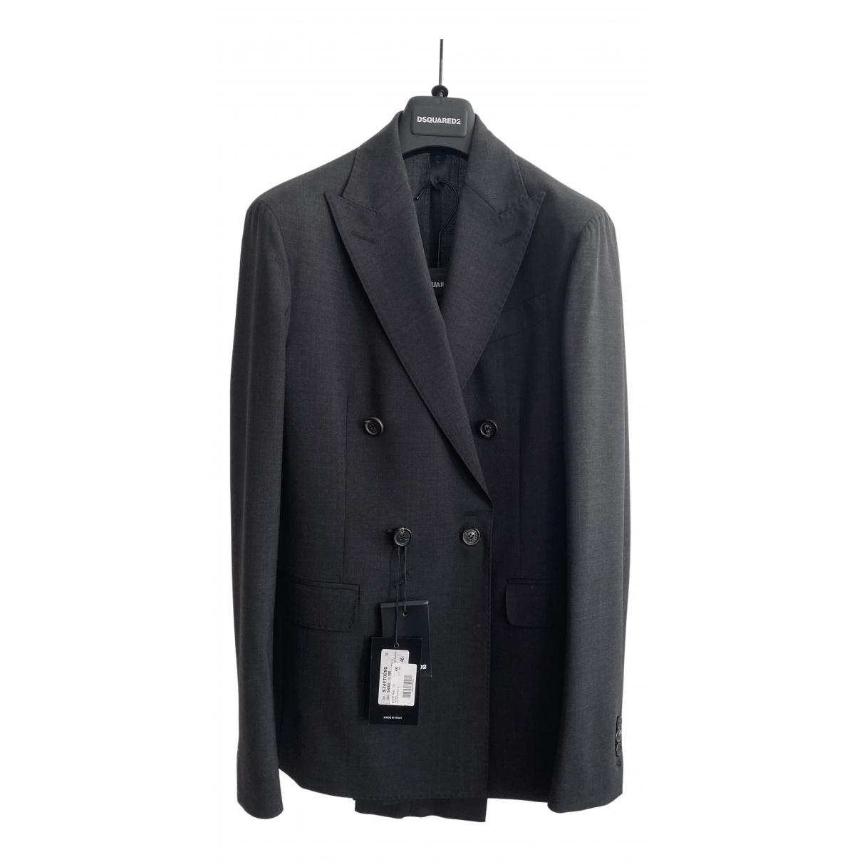Dsquared2 - Costumes   pour homme en laine - anthracite