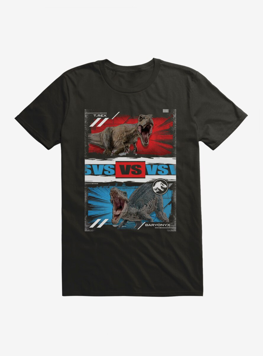 Jurassic World T.Rex Versus Baryonyx T-Shirt