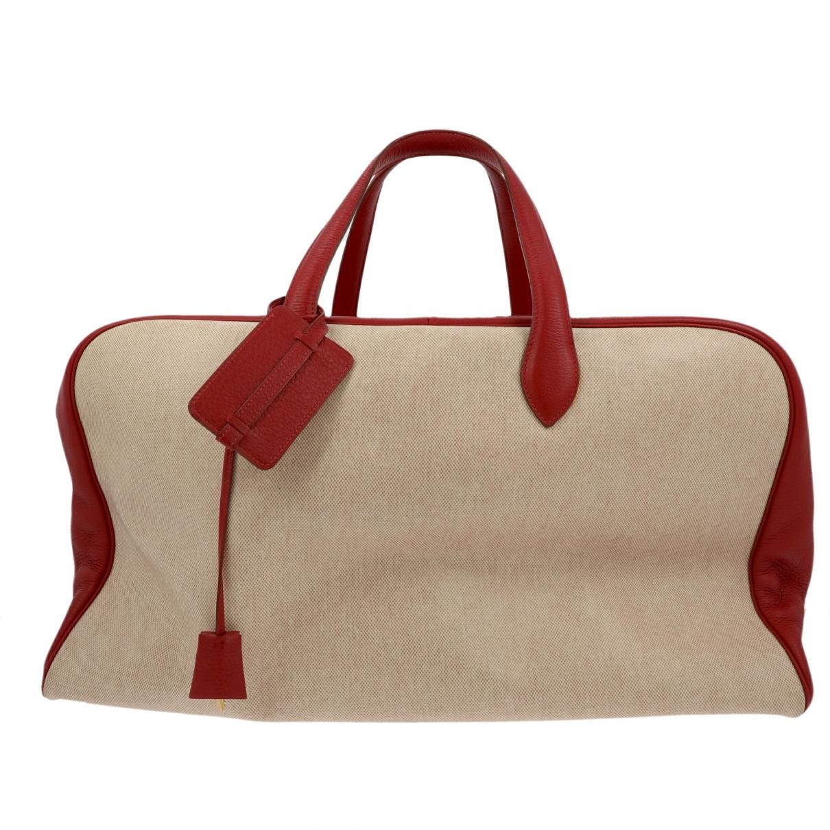 Hermes - Sac de voyage   pour femme en cuir - rouge