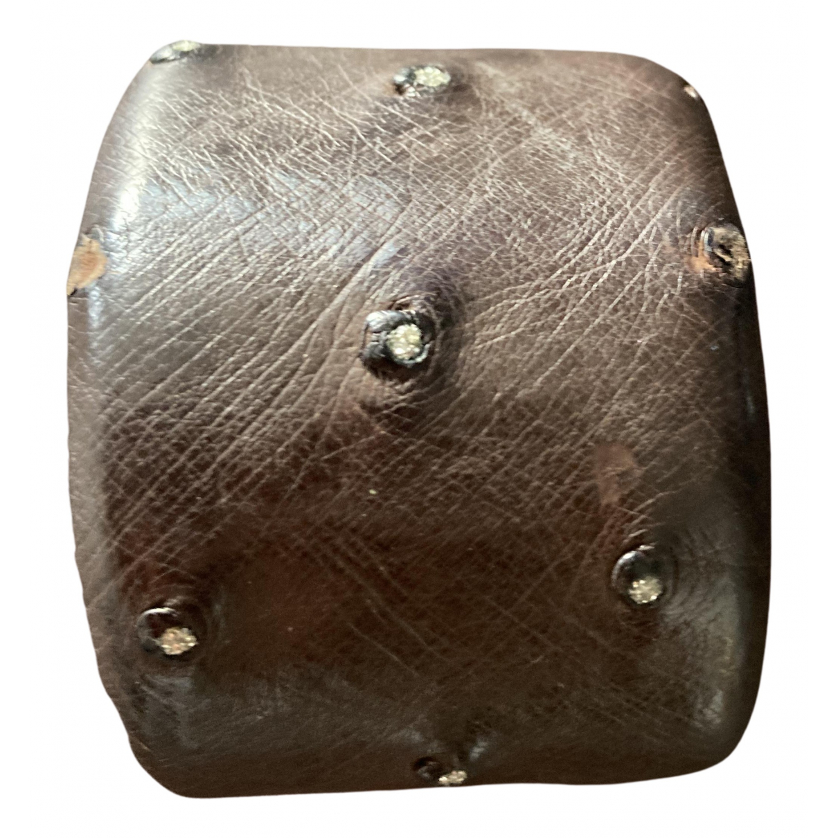 Brunello Cucinelli - Bracelet   pour femme en autruche - marron