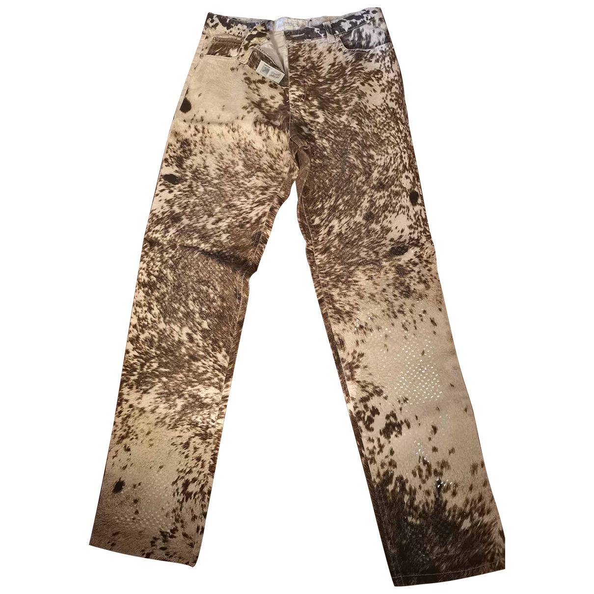 Roberto Cavalli \N Multicolour Cotton Jeans for Women 42 FR