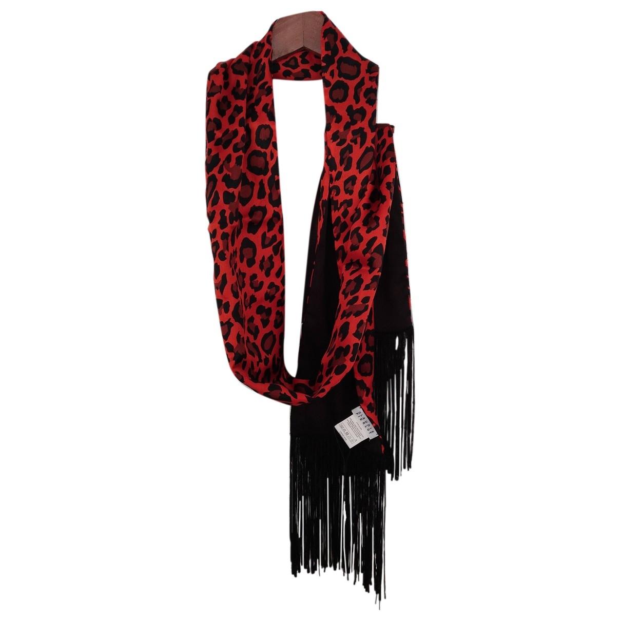 Claudie Pierlot \N Red Silk scarf for Women \N