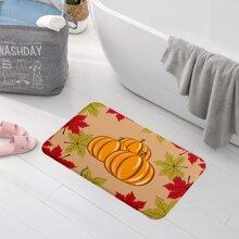 Pumpkin Print Floor Mat