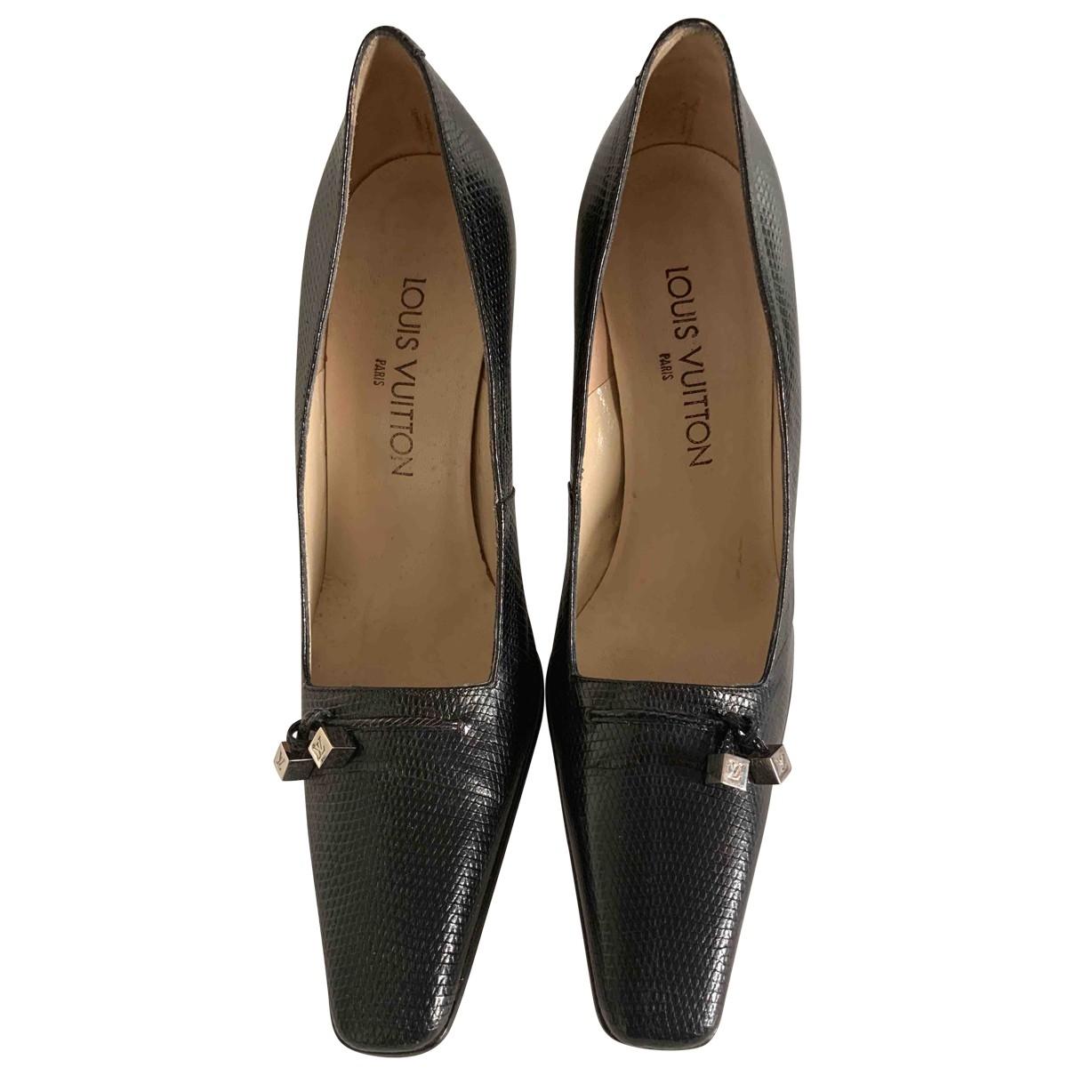 Louis Vuitton \N Black Lizard Heels for Women 38 EU
