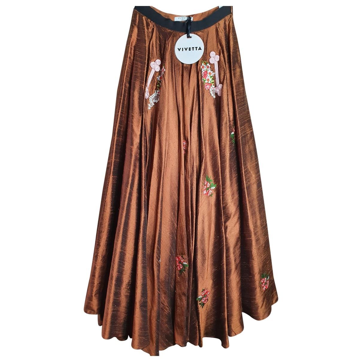 Vivetta - Jupe   pour femme en soie - marron