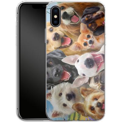 Apple iPhone X Silikon Handyhuelle - Dogs Selfie von Howard Robinson