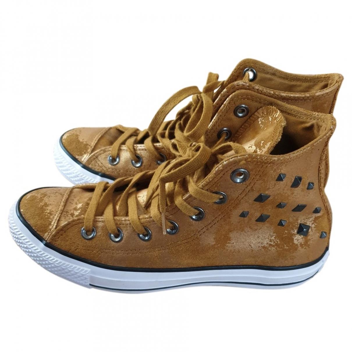 Converse \N Gold Cloth Trainers for Women 37.5 EU