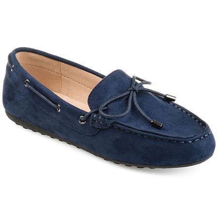 Journee Collection Womens Thatch Slip-On Shoe Round Toe, 9 1/2 Medium, Blue