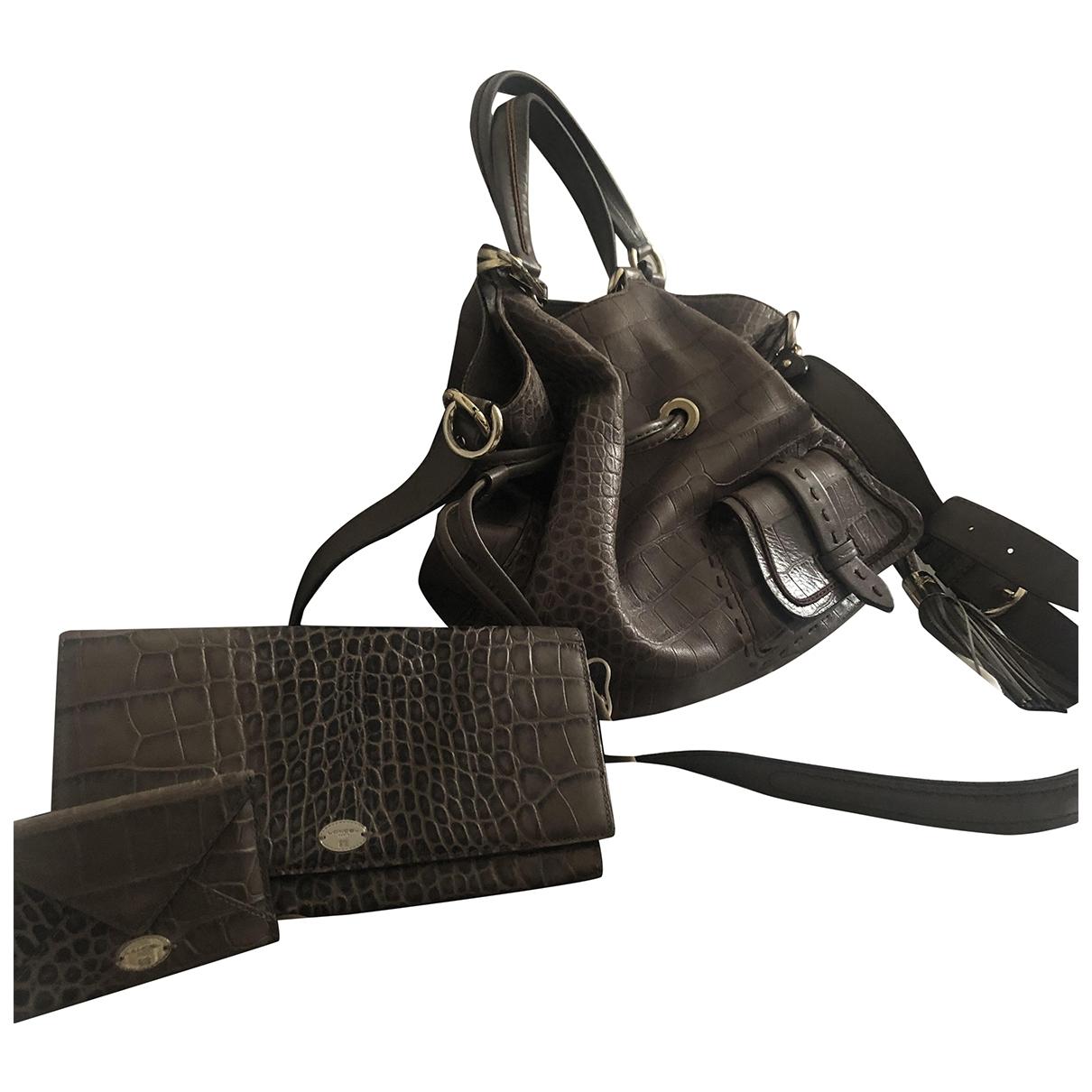 Lancel 1er Flirt Handtasche in  Braun Leder