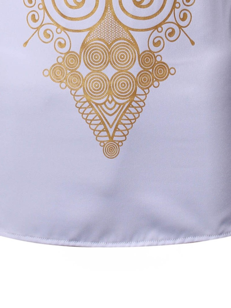 Ericdress African Fashion Dashiki Casual Print Mens Shirt