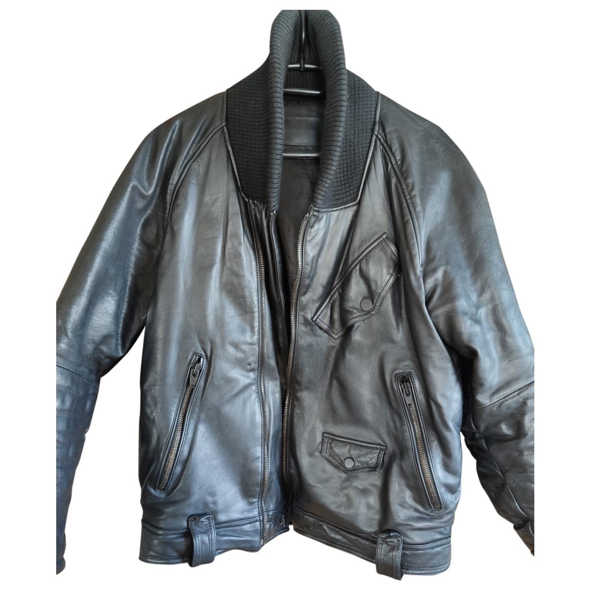 Alexander Wang Pour H&m \N Jacke in  Schwarz Leder