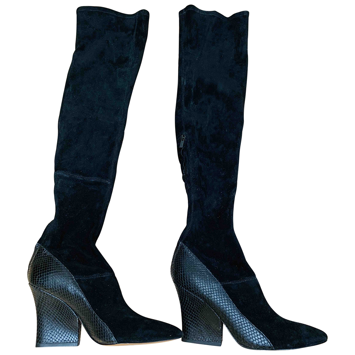 & Stories \N Black Suede Boots for Women 5 UK