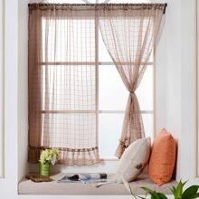 Vorhang mit Karo Muster