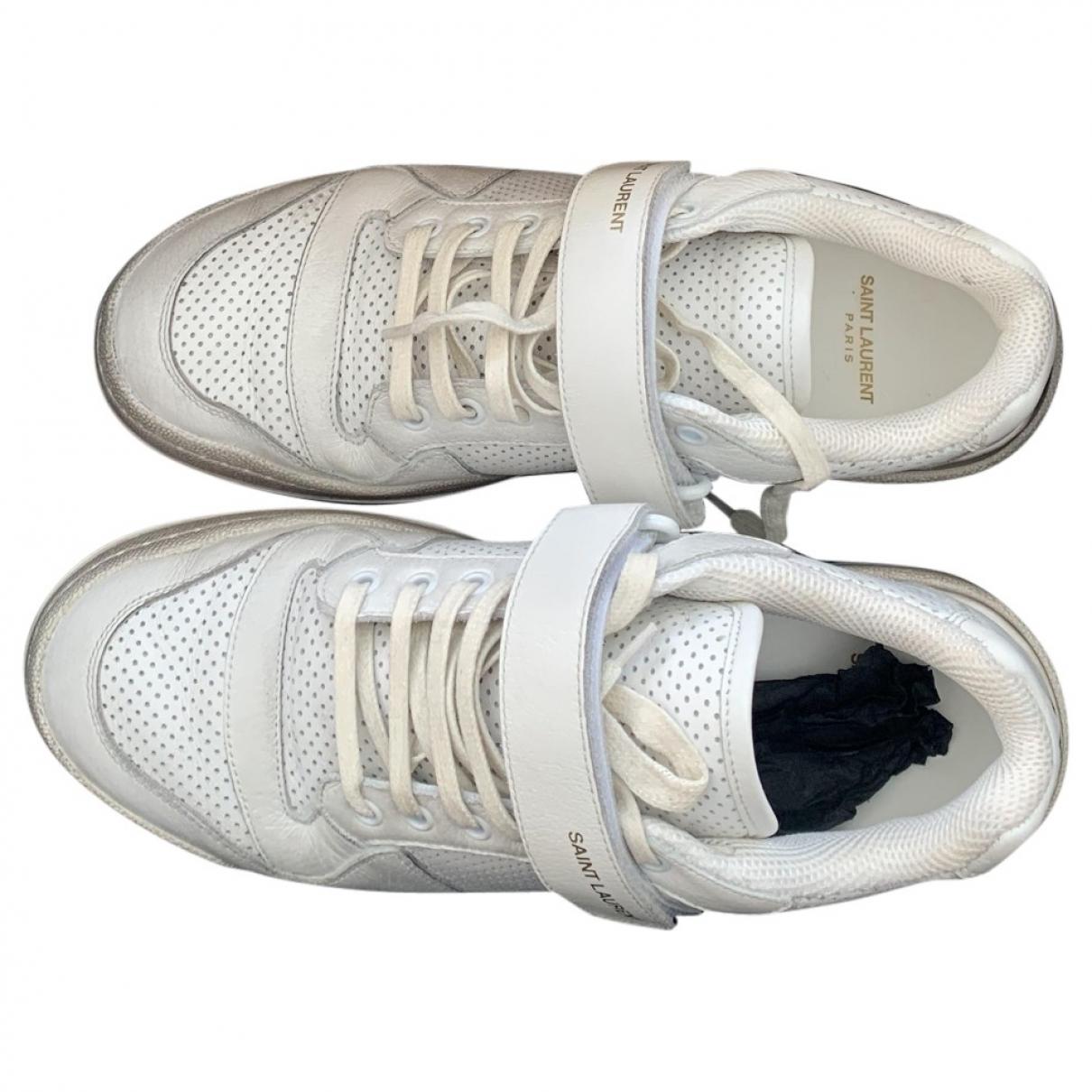 Saint Laurent - Baskets   pour homme en cuir - blanc