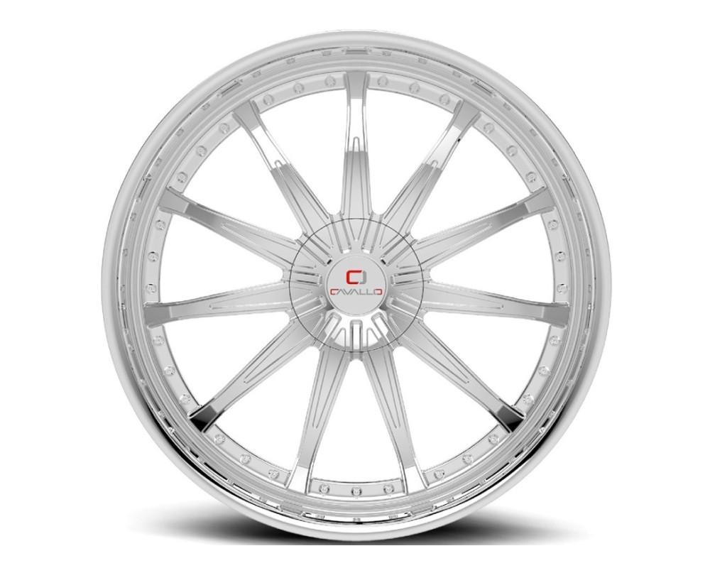 Cavallo CLV-35 Wheel 22x9.5 5x115|5x139.7 15mm Chrome