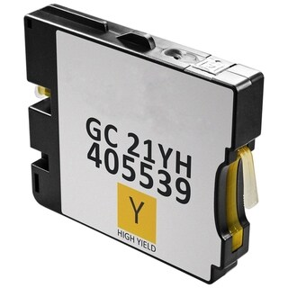4PK Compatible GC21 Set / GC21KH CH MH YH Ink Cartridge for Ricoh GX2500 3000 3150 5000 5150 7000 (Pack of 4) (Yellow)