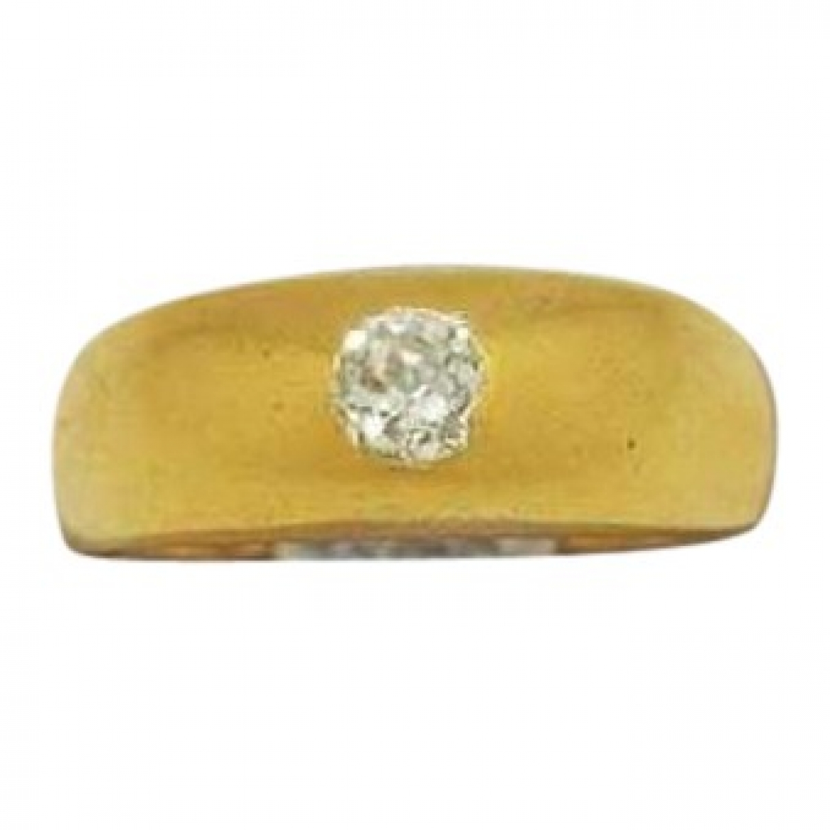 Non Signe / Unsigned Jonc Ring in  Gold Gelbgold