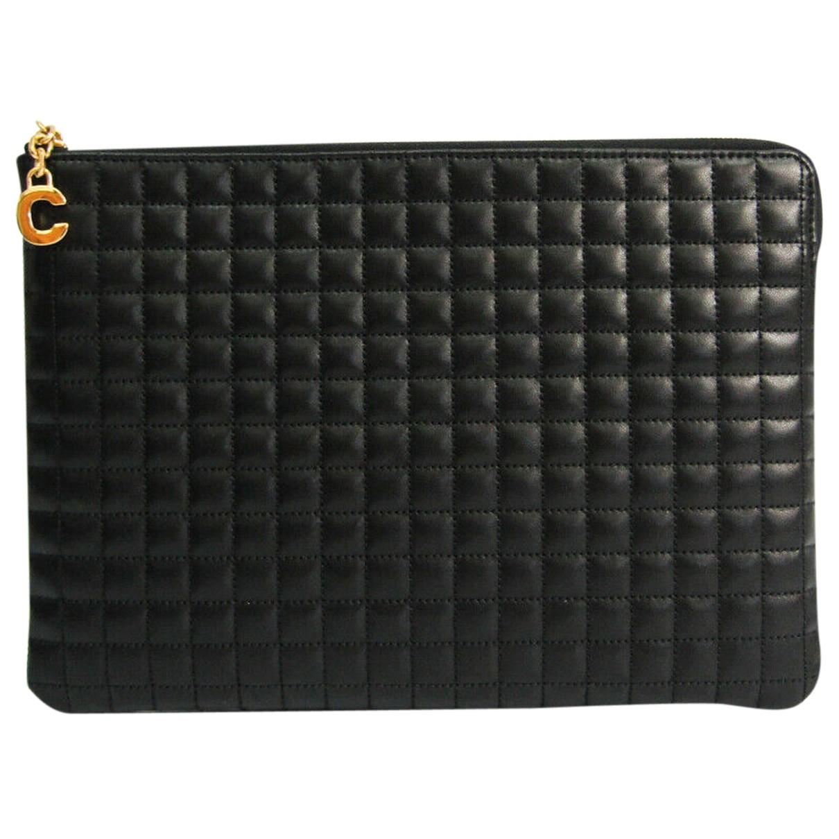 Celine C charm Black Leather Clutch bag for Women N