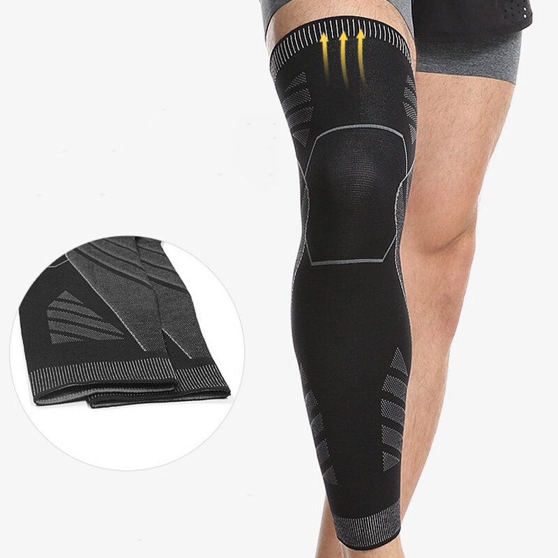 Sports Legging Protection Gear Knitted Elasticity Knee Pads Long Tube Elasticity Legging