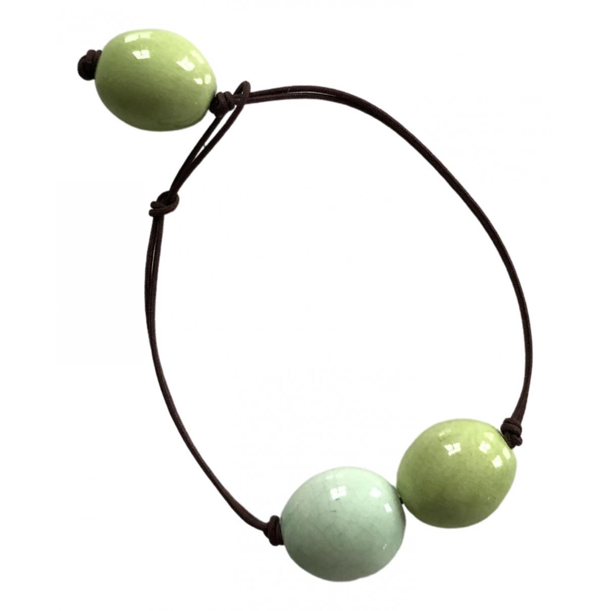 Helena Rhoner - Bracelet   pour femme en ceramique - vert