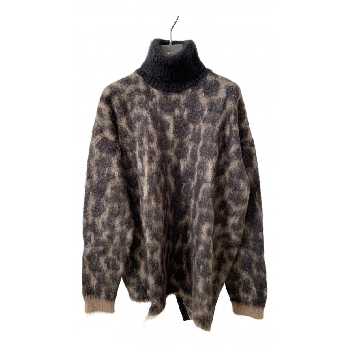 N°21 - Pull   pour femme en laine - marron