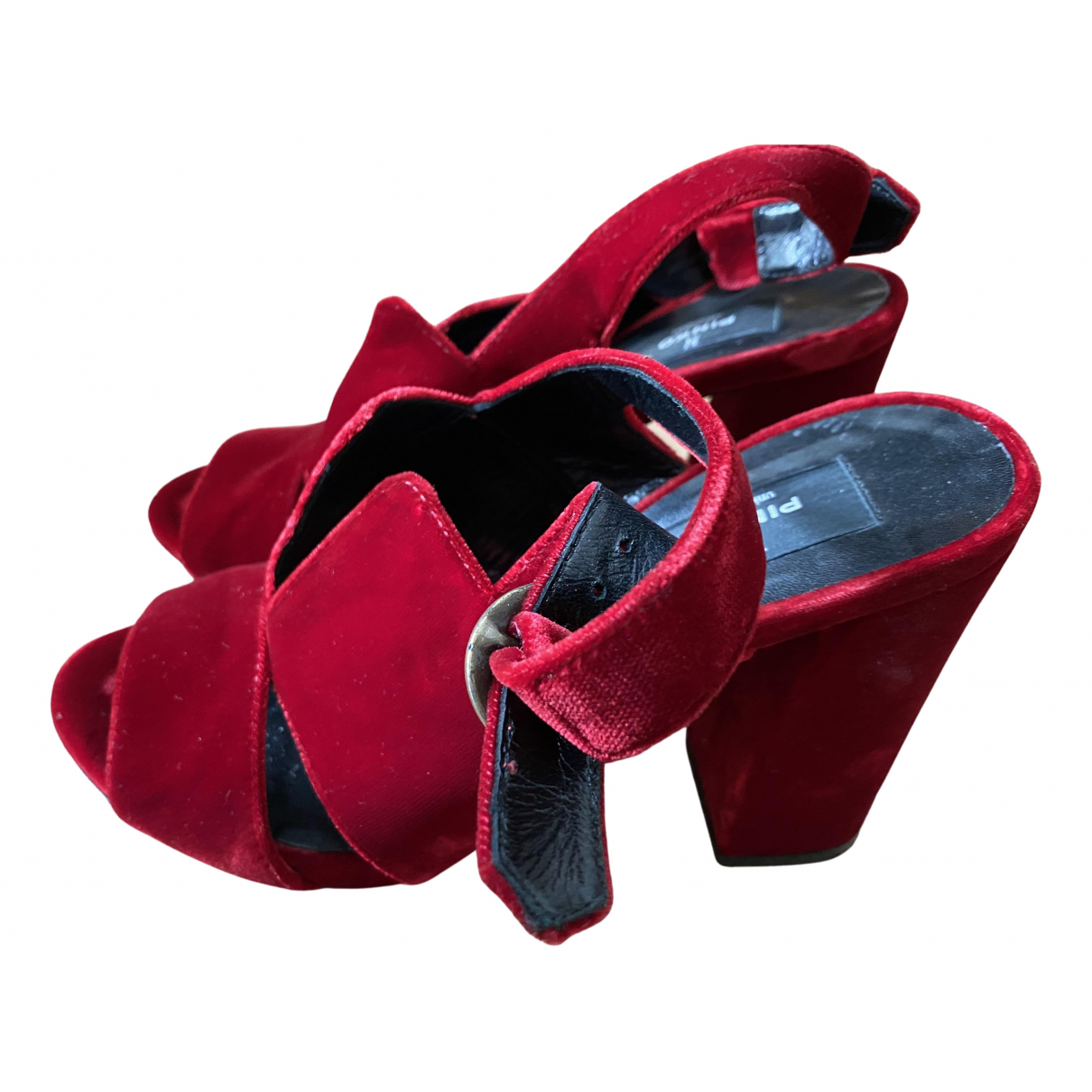 Pinko \N Red Velvet Heels for Women 37 EU