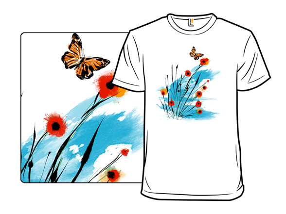 Blooming Butterfly T Shirt