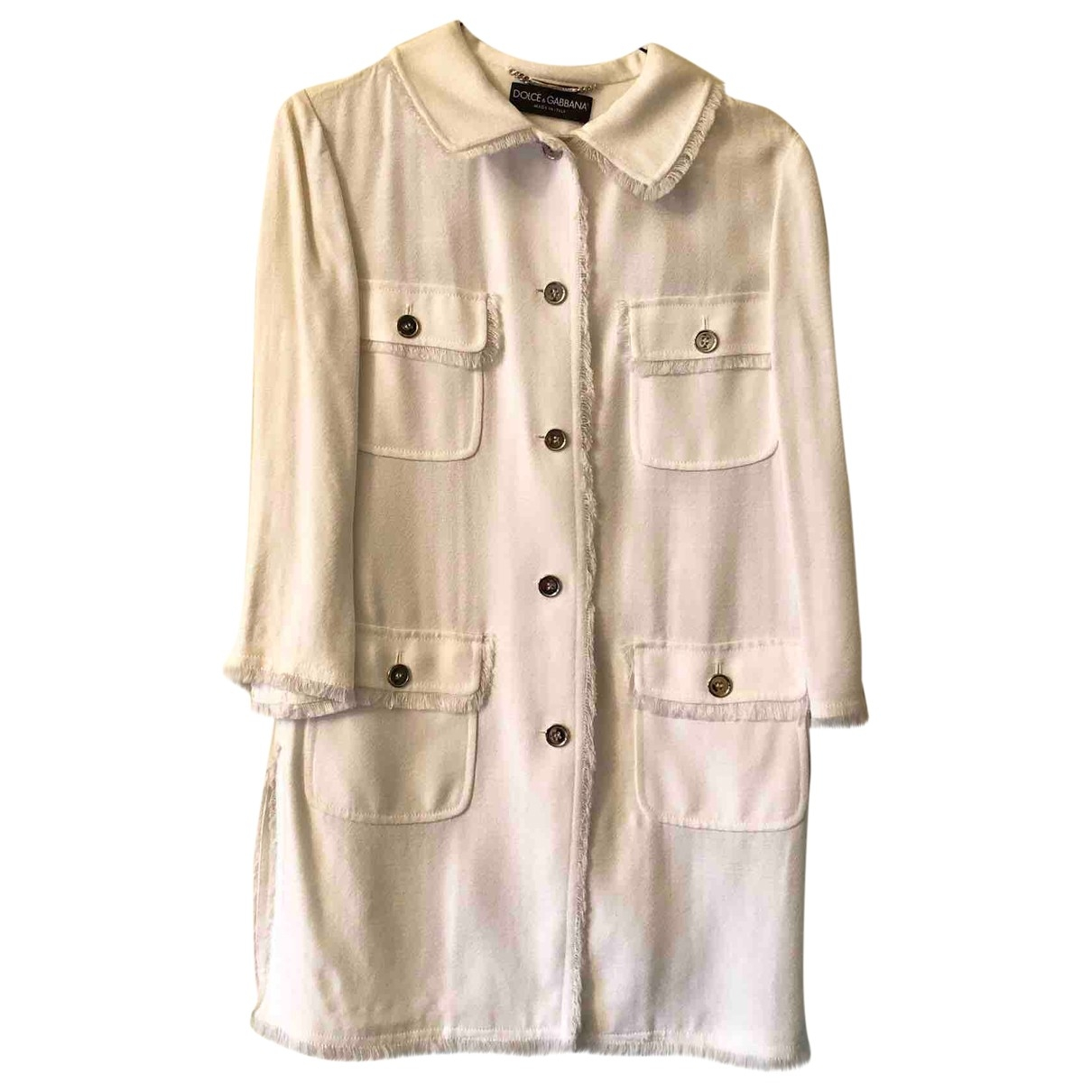 Dolce & Gabbana \N White jacket for Women 38 IT