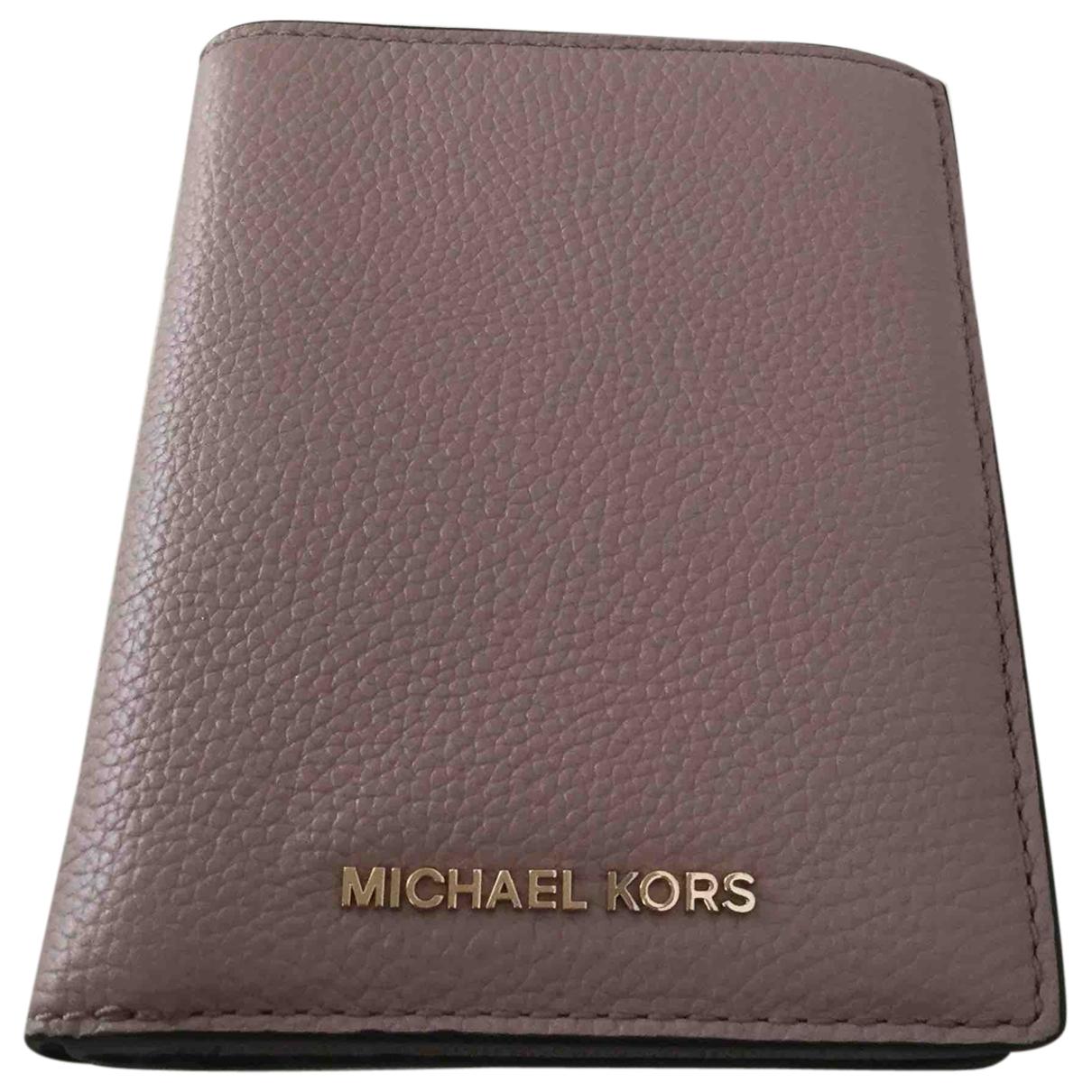 Michael Kors \N Beige Leather wallet for Women \N